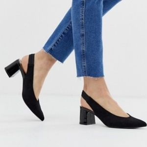 Christian Sirano • Slingback Block Heel Pumps 9